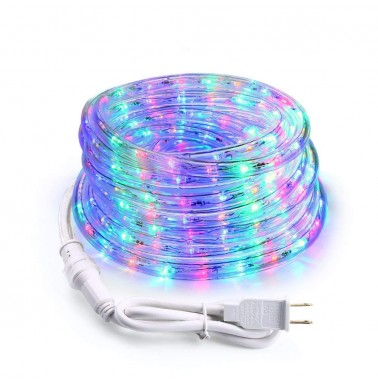 18ft 216 LED Rope Lights 120V UL Multi Color