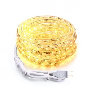 18ft 216 LED Rope Lights 120V UL Warm White