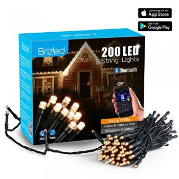 200 LED Bluetooth Smart Christmas Mini Lights Warm White