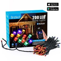 200 LED Smart Dimmable Bluetooth Christmas Mini Lights Multi Color