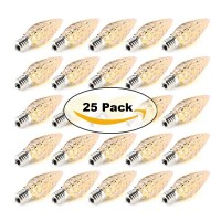 25 Pack C9 LED Light Bulbs Soft White E17 Base