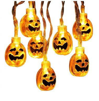 30 LED 11.48ft 3D Jack-O-Lantern Pumpkin Lights