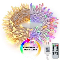 200 LED Color Changing Warm White Multi Color Christmas Lights