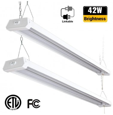 Linkable LED Utility Shop Light 42W 5000K 4200 Lumens 2 Pack