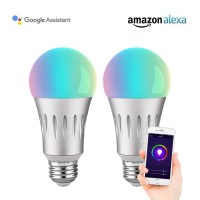 Smart Wi-Fi LED Light Bulbs 7W Equivalent 60W E26 2 Pack