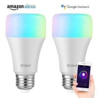 WiFi Smart Light Bulbs E26 Based 2 Pack Warm White and Color